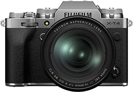 Fujifilm X-T4 Silber inkl. Fujinon XF16-80F4 - Amazon.es - Vorbestellbar