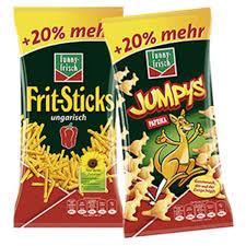 Jumpys oder Frit-Sticks mit 20 % mehr Inhalt für 88 Cent, oder Funny Chipsfrisch mit Netto App für 85 Cent [Netto MD]