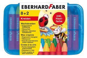 Eberhard Faber Wachsmalkreiden dreiflächig, 10 Stück in Plastikbox 3,82€ (Müller Abholung)