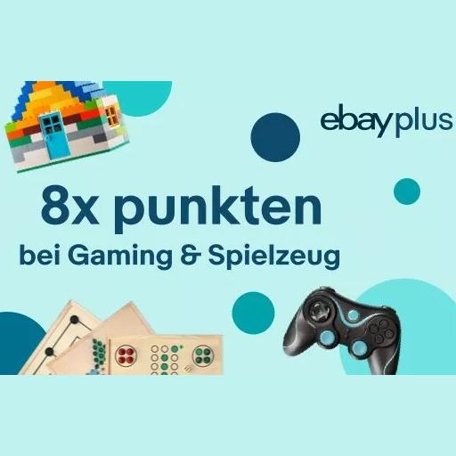 [eBay Plus] 8-fach Punkte auf Gaming, Konsolen, Spiele (PC, PS4, Nintendo Switch, Xbox One) & Spielzeug Artikel (entspricht 8% Rabatt)