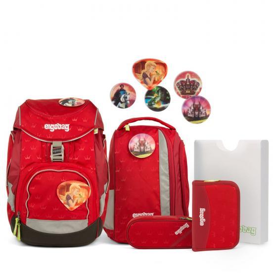 Ergobag Pack HimmelreitBär / Küss den Bär ( ergonomischer Schulrucksack, Set 6-teilig, 19 Liter, 1.100 g, rot )