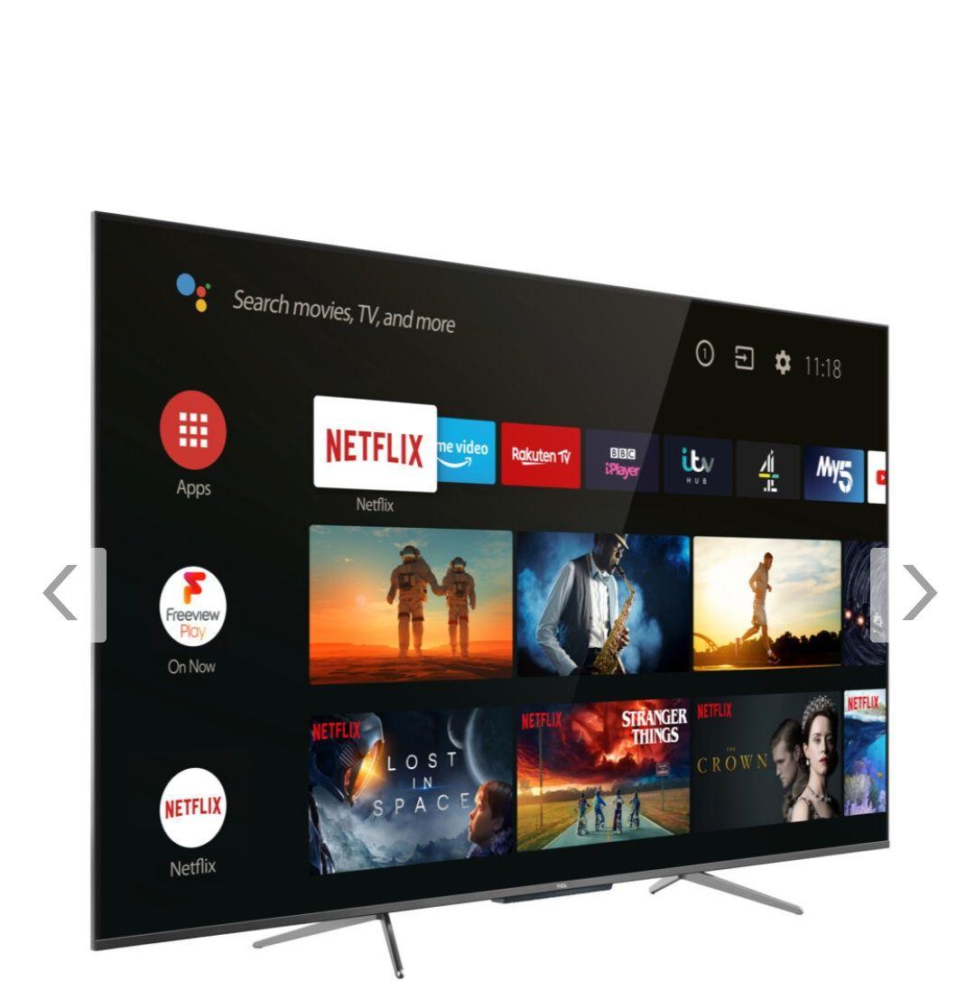 TCL 55 C 715 4K QLED TV (Flat, 55 Zoll, 139 cm, QLED 4K, SMART TV, AndroidTV 9.0)