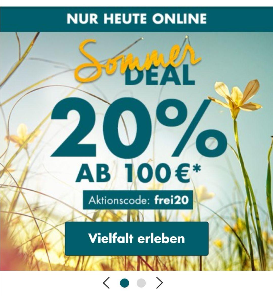 20% ab 100 € MBW bei Karstadt Galeria Kaufhof