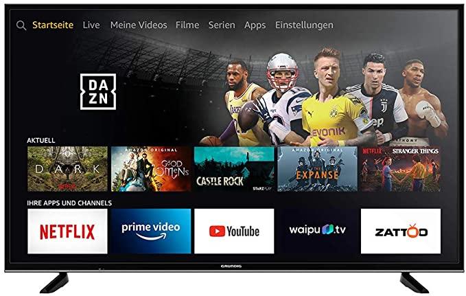 Grundig Vision 7 Fire TV Edition 55VLX7010 139cm 55 Zoll 4K Ultra HD Smart TV mit Alexa-Sprachsteuerung HDR für 319€ auch 43, 49 u. 65 Zoll