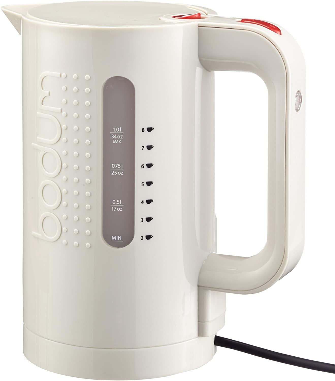 Bodum Bistro Elektrischer Wasserkocher (Automatisches Abschalten, 2200 Watt, 1,0L)