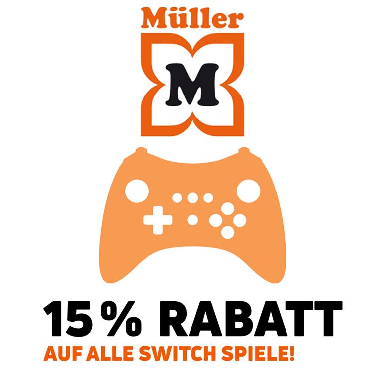 15% Rabatt auf alle Nintendo Switch Spiele [Müller Filiale]