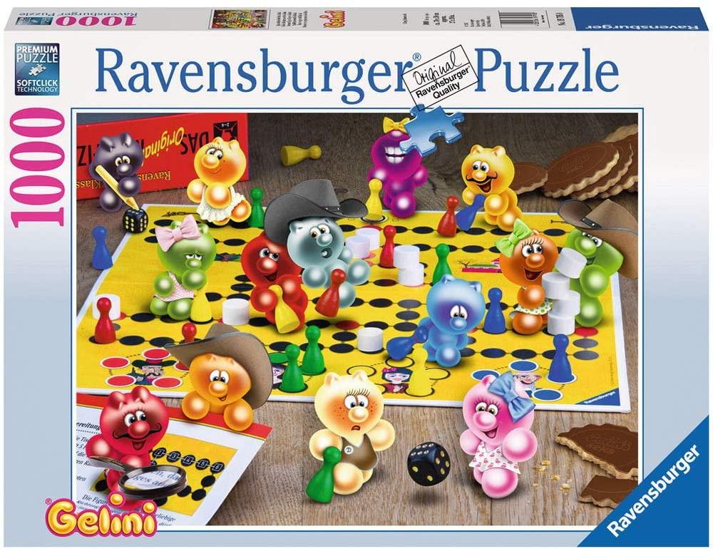 Ravensburger Puzzle Gelini - Spieleabend bei den Gelinis, 1000 Teile für 7,50€ (Amazon Prime & Galeria Kaufhof Abholung)