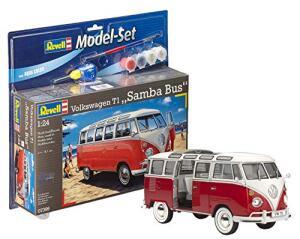 Revell Modellbausatz Auto - VW T1 Bulli Samba Bus im Maßstab 1:24 Model-Set mit Basiszubehör für 18,42€ (Amazon Prime)