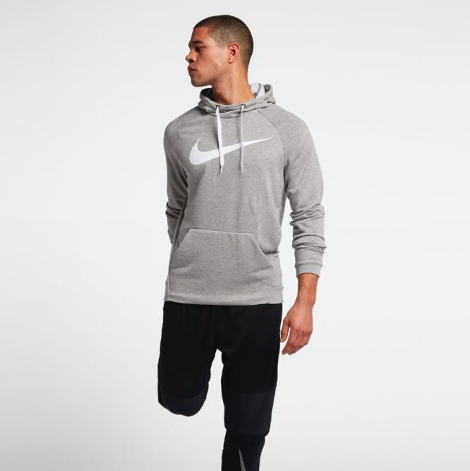 Nike Flash-Sales: Bis zu 50% / 60% Rabatt auf Basketball- / Fußballstyles & Trainingsequipment, z.B. Nike Dri-Fit Hoodie für 27,97€