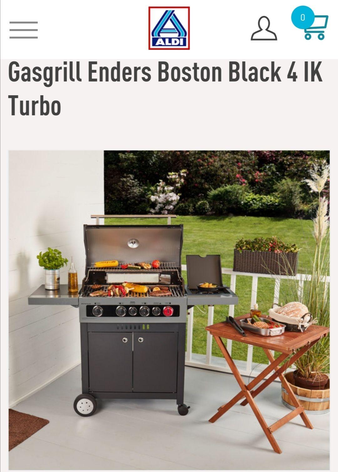 Gasgrill Enders Boston Black 4 IK Turbo Bei Aldi online zu bestellen