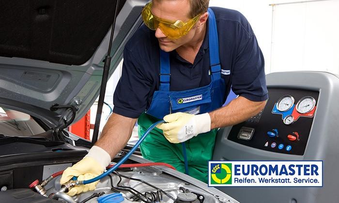 Klimaanlagen-Wartung inkl. Kältemittel bei EUROMASTER für 49,90€ optional mit Desinfektion für € 74,90€