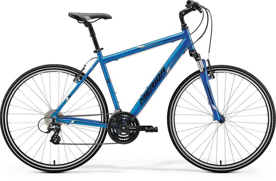 MERIDA CROSSWAY 15-V 2018 BLAU Rh 44-55 cm Fahrrad @NubukBikes
