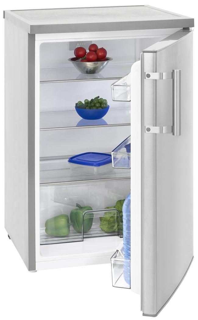[Amazon] Exquisit KS 16-1 RVA+++ Kühlschrank Inox-Look