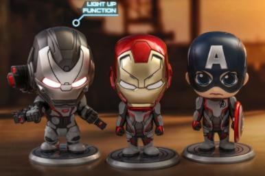 verschiedene Hot Toys, z.B. Avengers: Endgame Cosbaby Captain America, Iron Man and War Machine - Size S (3er Set) für 47,99