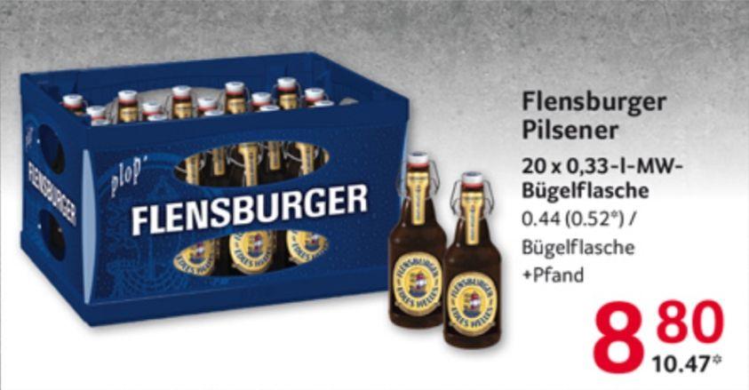 [Selgros Regional] Flensburger Pilsener 20x0,33L ab 18.06. (am 1.7. 10,21€!) (bei Real ab 15.06. für 10,99€)
