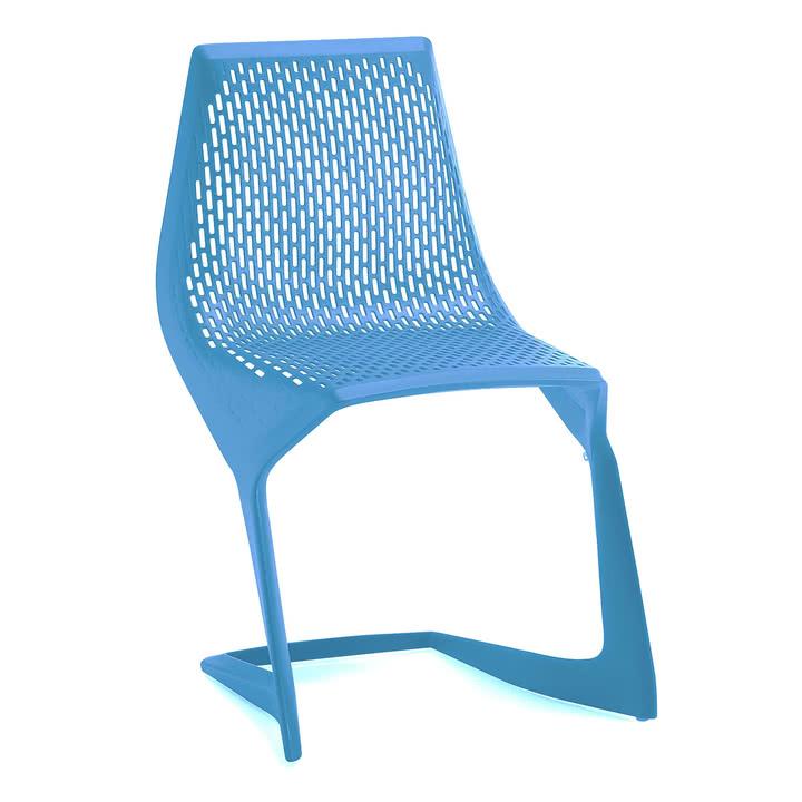 Myto Stuhl von Plank, Design Konstantin Grcic, hellblau, gelbgrün oder schwarz [Connox Plus]