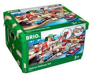 BRIO World 33052 Straßen und Schienen Bahn Set Deluxe für 92,99€ (Saturn)