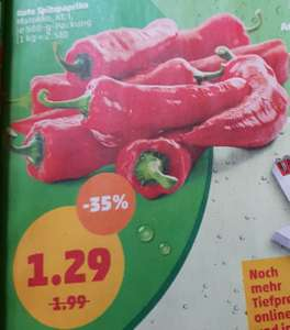[Sammeldeal Penny] u. a. 500g Packung Rote Spitzpaprika