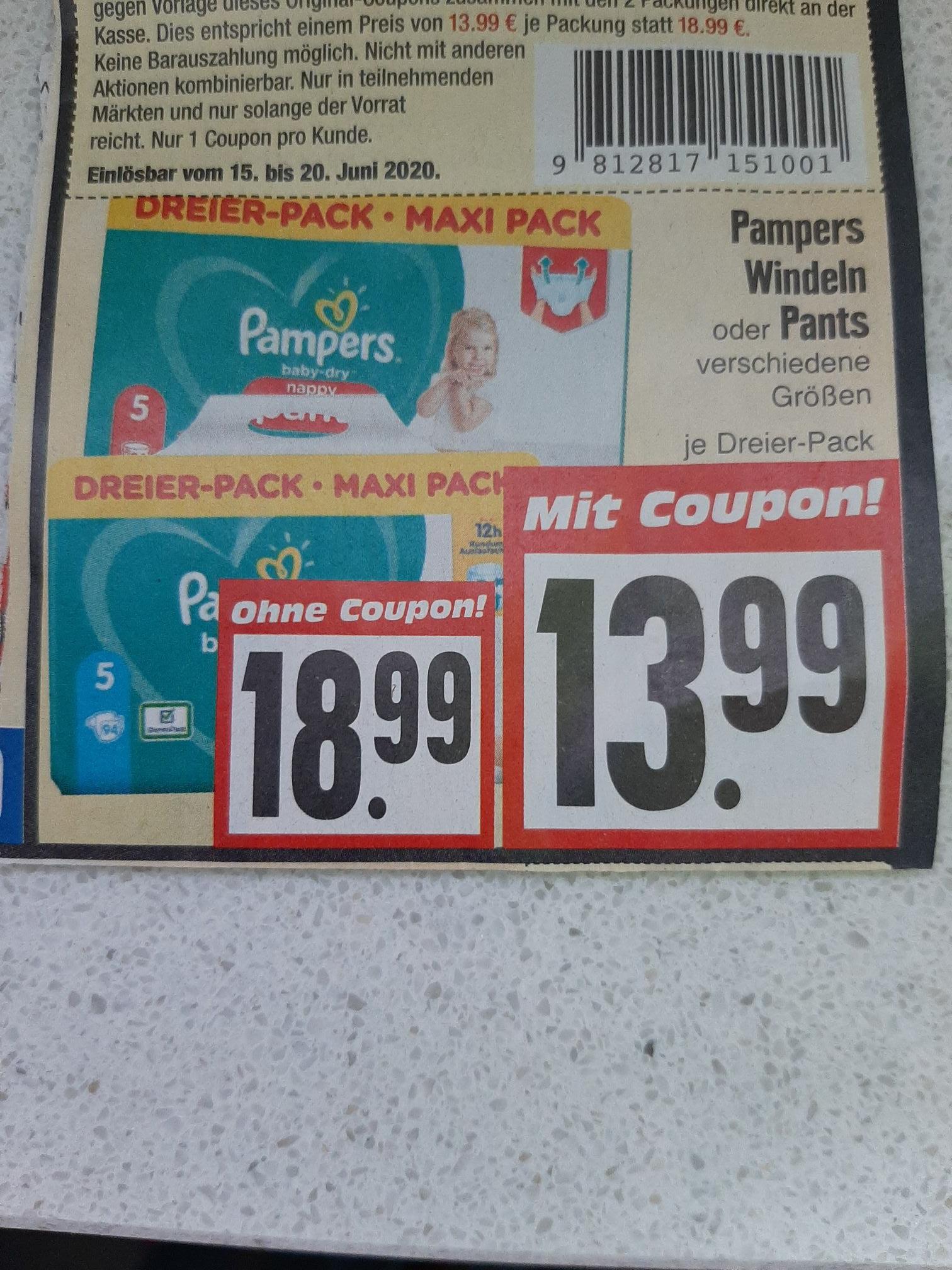 Pampers Babydry Pants / Windeln Edeka 3erPack