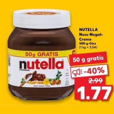 Nutella 500g für 1,77€ [Kaufland am 19. & 20.06.]