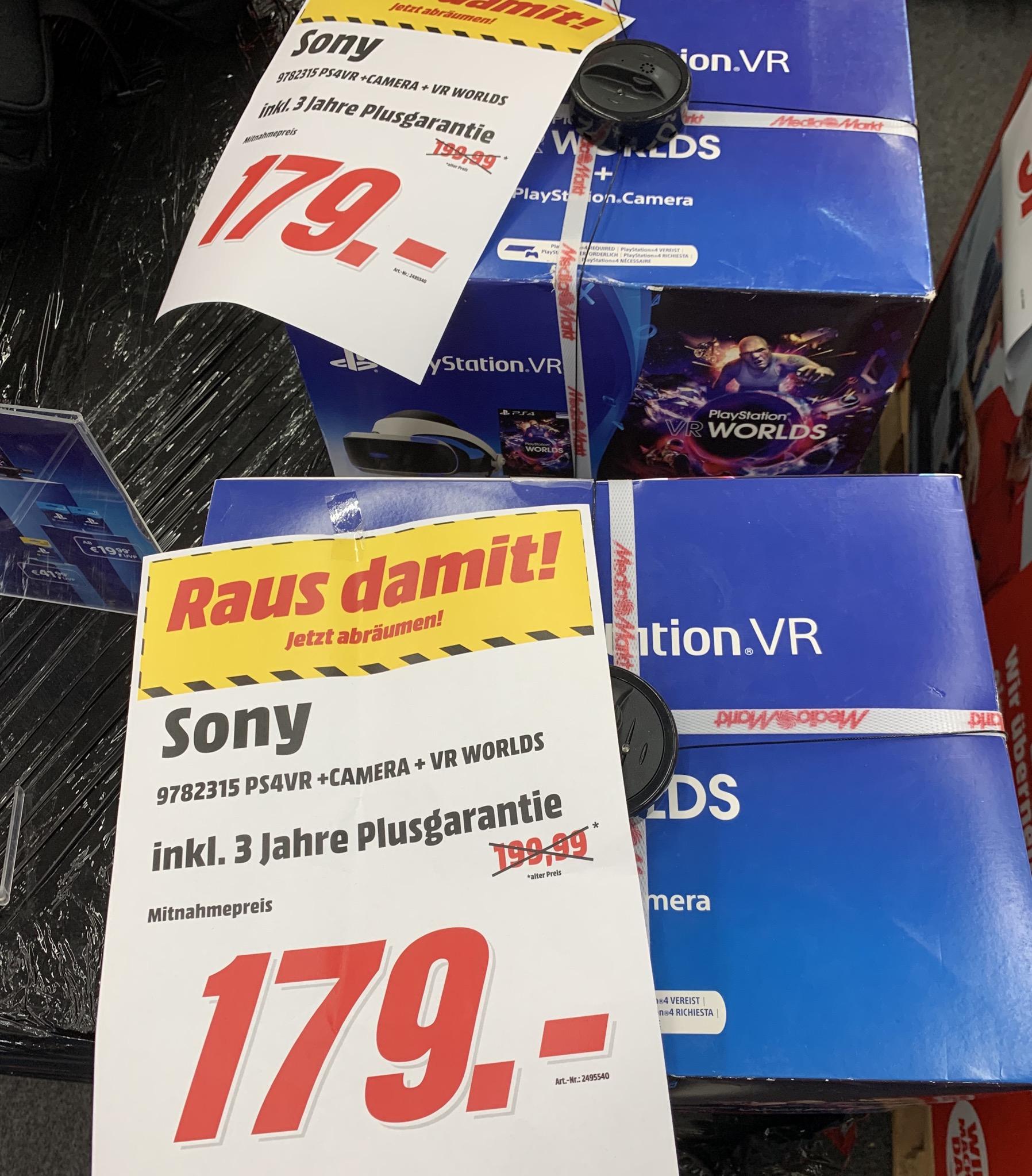 [Lokal Düsseldorf] Sony PlayStation VR V2 + Kamera + VR Worlds für 179€ im Media Markt Düsseldorf Arcaden