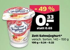 Zott Sahnejoghurt verschiedene Sorten