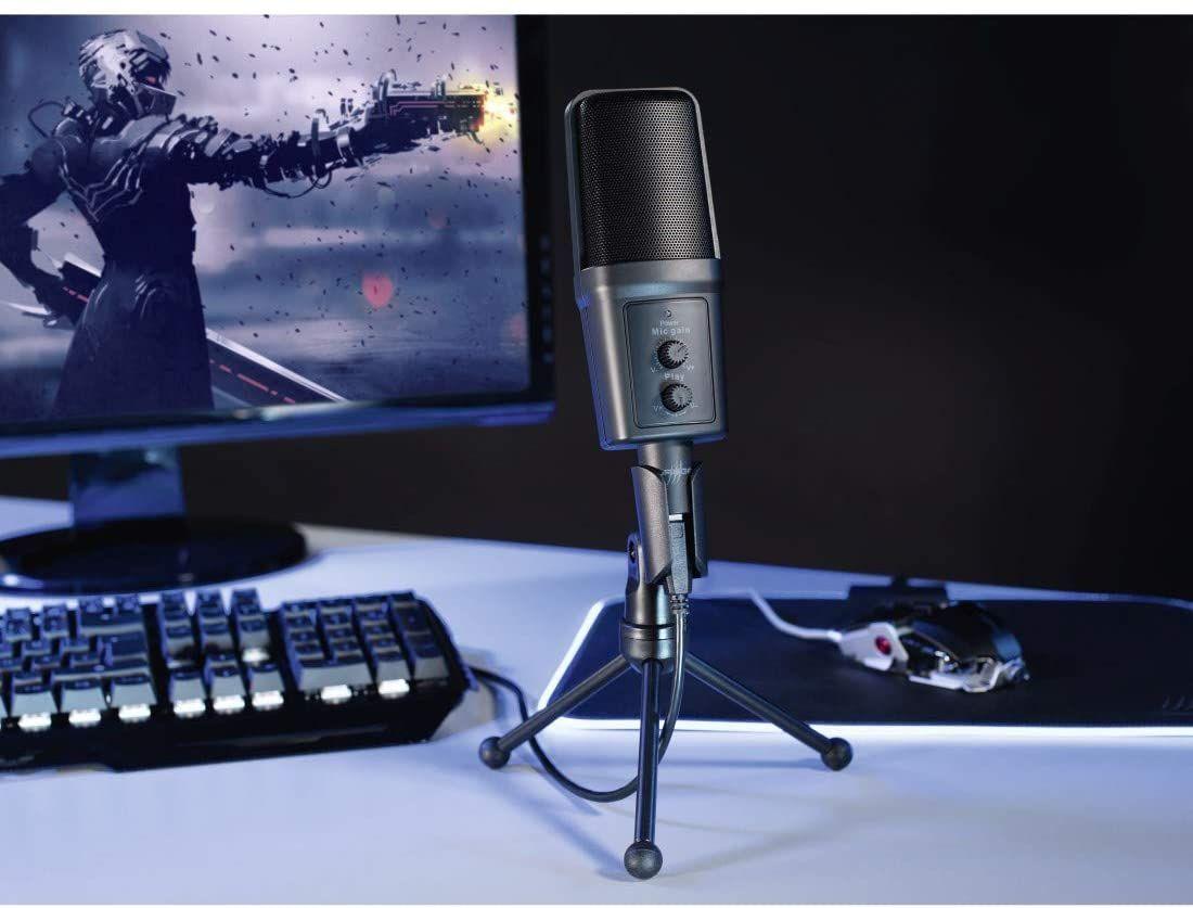 Hama 00113793 uRage Micro xStr3am Revolution, Streaming-Mikrofon Podcasts, Voice-over, Kleines Tischstativ [Amazon & Computeruniverse]