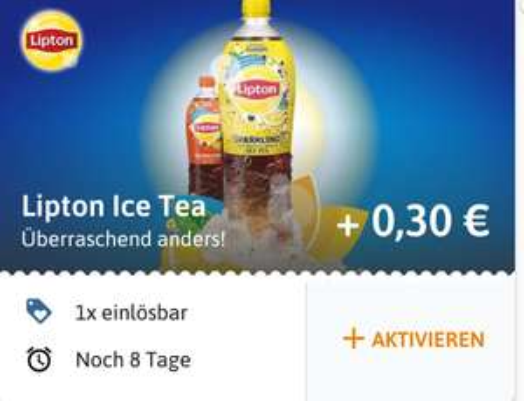 [reebate] 30 Cent Cashback auf Lipton Ice Tea
