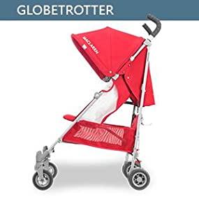 Maclaren Globetrotter Buggy – Leicht, kompakt und einfach zu manövrieren. Ausziehbare UPF50+/wasserdichte Haube, verstellbarer Sitz
