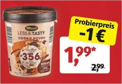 """Aldi Eis zum Probierpreis, z.B. Mucci """"Less &Tasty"""", der 475ml Becher (versch. Sorten) für 1,99 Euro [Aldi Süd]"""