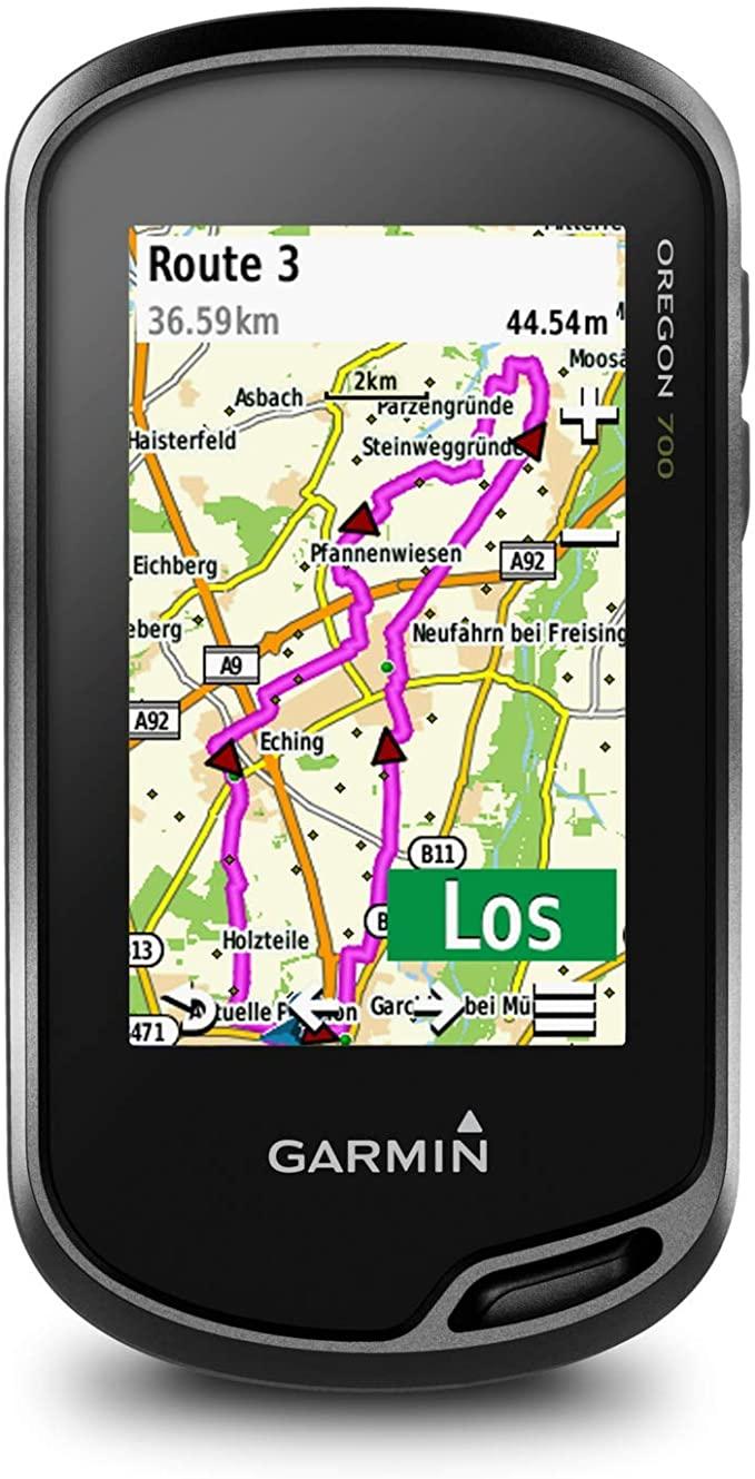 """Garmin Oregon 700 - robustes, wasserdichtes GPS-Outdoor-Navi mit 3"""" (7,6 cm) Farb-Touchscreen, vorinstallierter Basiskarte, Aktivitätsprofil"""
