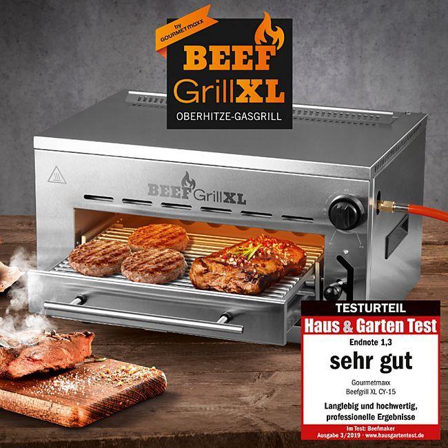 Gourmetmaxx Beef Grill XL Oberhitze Gasgrill @netto