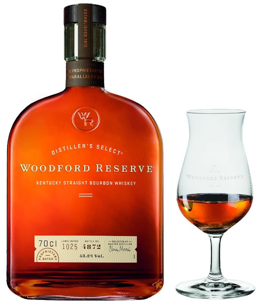 Woodford Reserve Kentucky Straight Bourbon Whiskey 0,7l mit Nosingglas