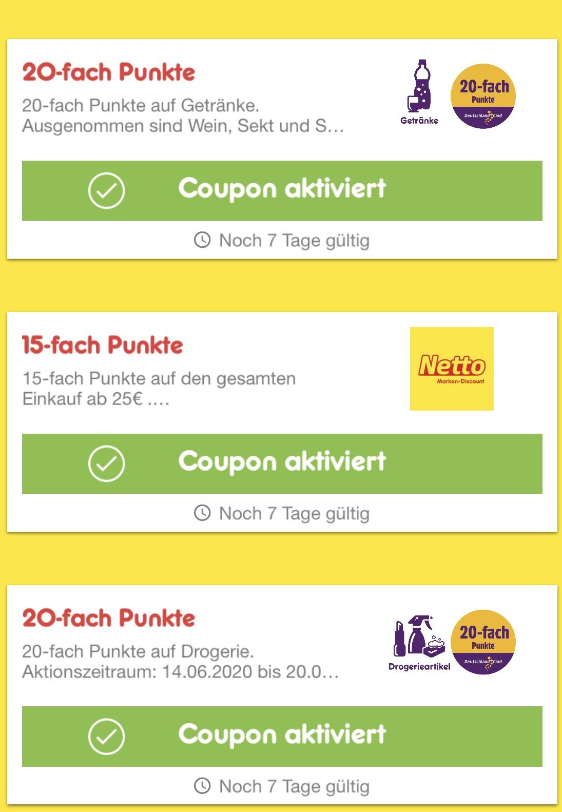 [Netto Marken-Discount] 15-fache Punkte ab 25€ in der Netto App und 1€ ab 20€ MEW als Coupon zum Scannen - bis zu 10,92% Ersparnis möglich!