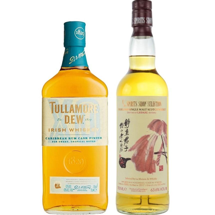 Whisky-Übersicht #32: z.B. Tullamore Dew Caribbean Rum Cask Finish für 19,49€, Williamson Single Cask 13 Jahre für 98,90€ inkl. Versand