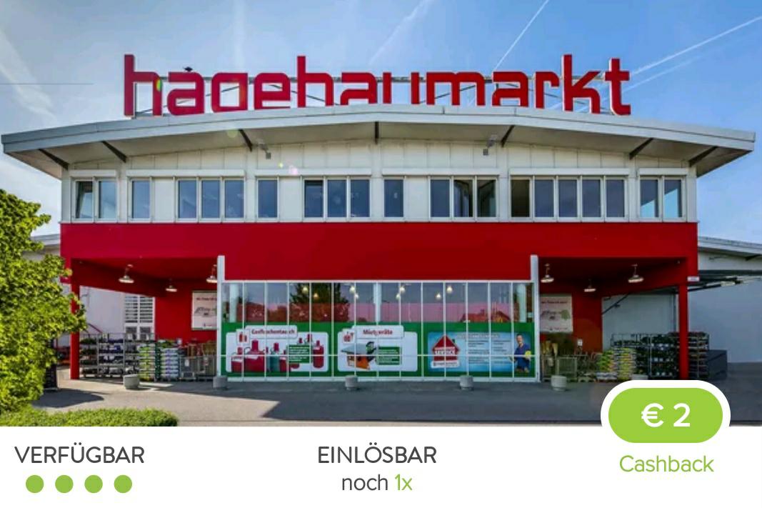 2€ Cashback auf Einkauf ab 20€ bei einem Hagebaumarkt in München und Umgebung [Marktguru App]