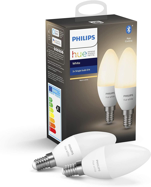 Philips Hue White E14 Bluetooth Doppelpack [PRIME]