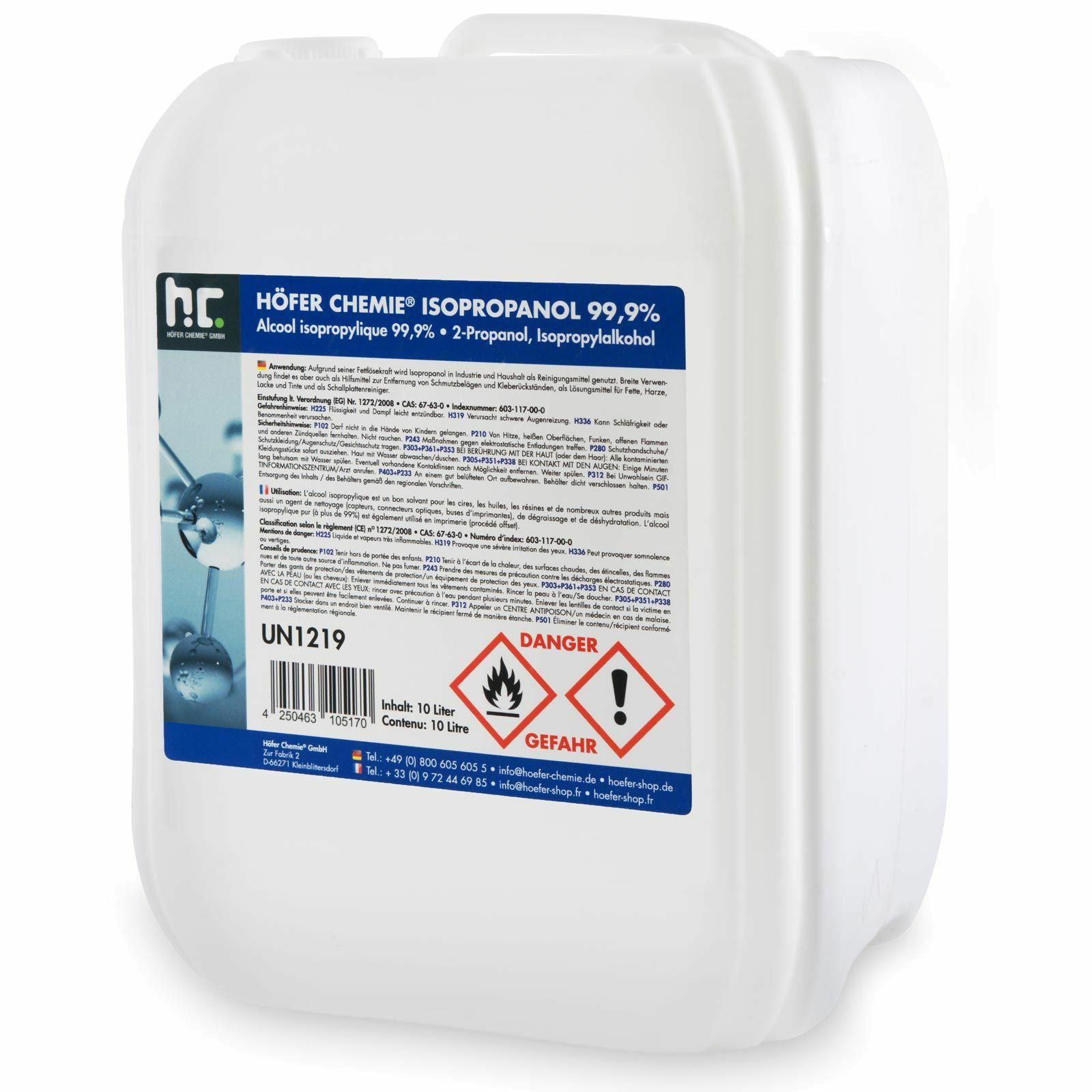 10 L Isopropanol 99,9% Inkl VSK