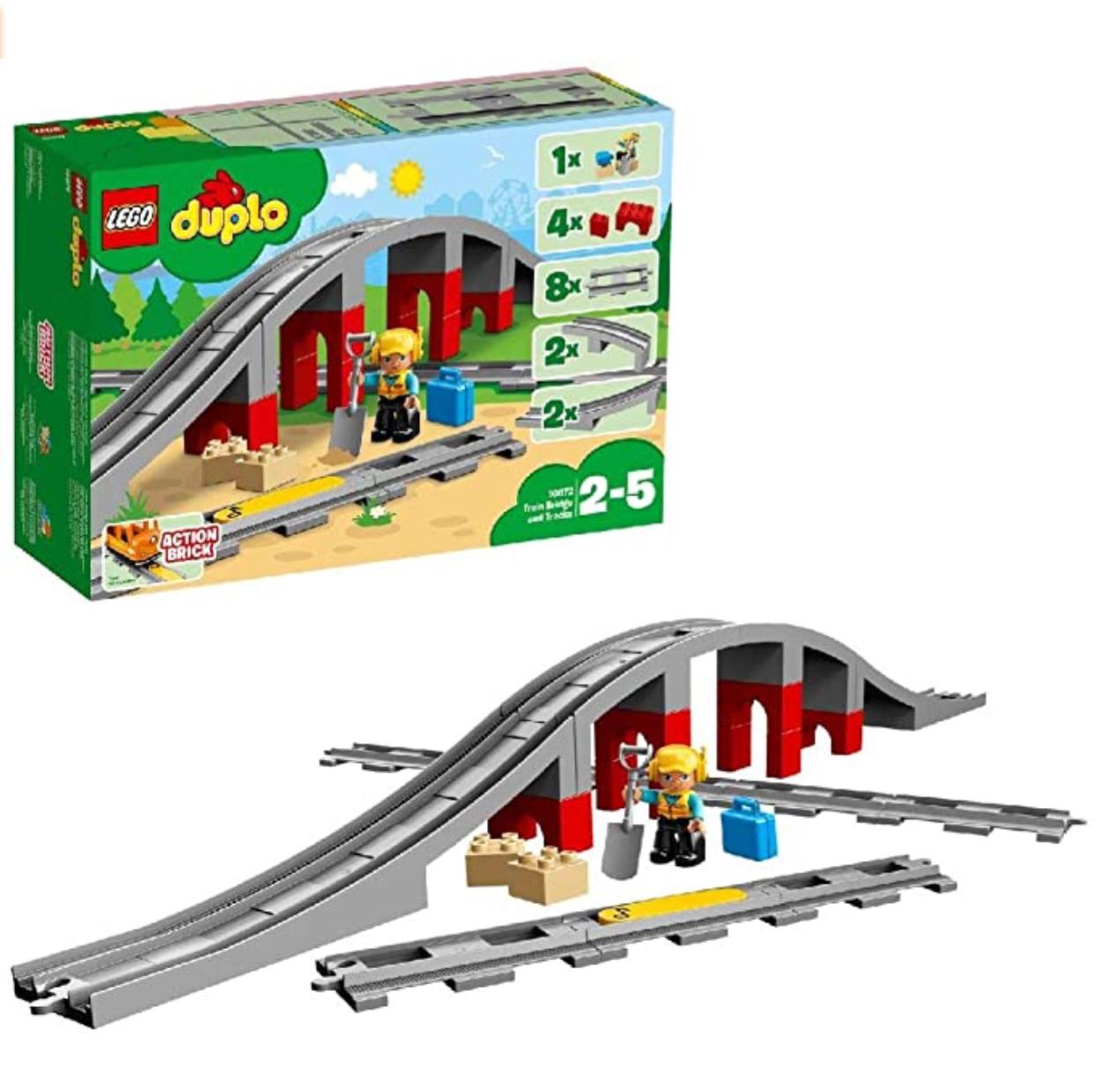 [Amazon Prime] LEGO DUPLO Eisenbahnbrücke und Schienen 10872 Konstruktionsspielzeug