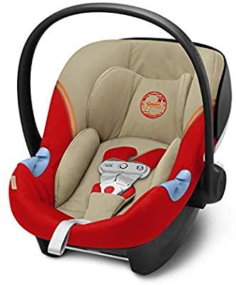 Cybex Aton M i-Size mit SensorSafe burnt red 2020 für Kinder von Geburt bis ca. 12/18 Monate
