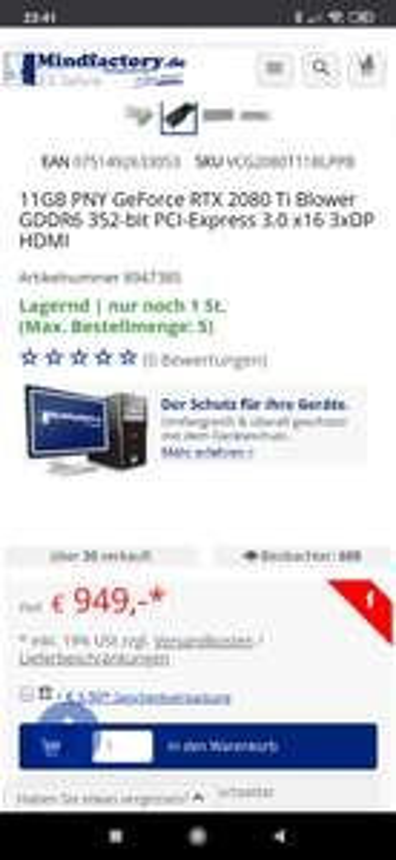 Rtx 2080 Ti für 950 Euro