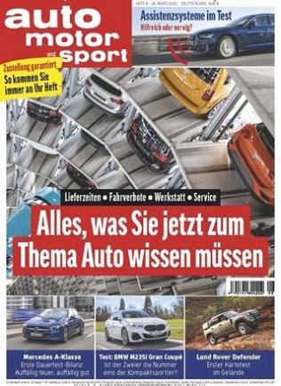 Auto Motor & Sport Abo (26 Ausgaben) für 113,80 € mit 95 € BestChoice-Gutschein bzw. 100 € Otto-/ Zalando Gutschein (Kein Werber nötig)
