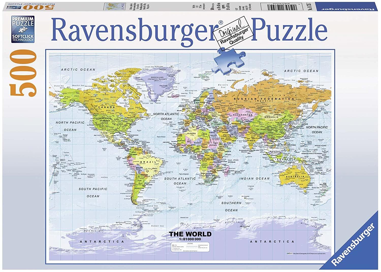 Ravensburger Puzzle - Weltkarte politisch 500 Teile für 5,99€ (Amazon Prime)