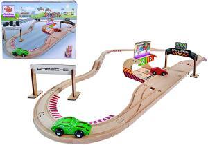 Eichhorn - Schienenbahn Set Porsche Racing, 31-tlg inkl. Zubehör, Streckenlänge: 350cm für 22,83€ (Amazon Prime)