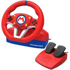 HORI Mario Kart Racing Wheel Lenkrad Pro MINI, Lenkrad und Pedale, Rot für Nintendo Switch