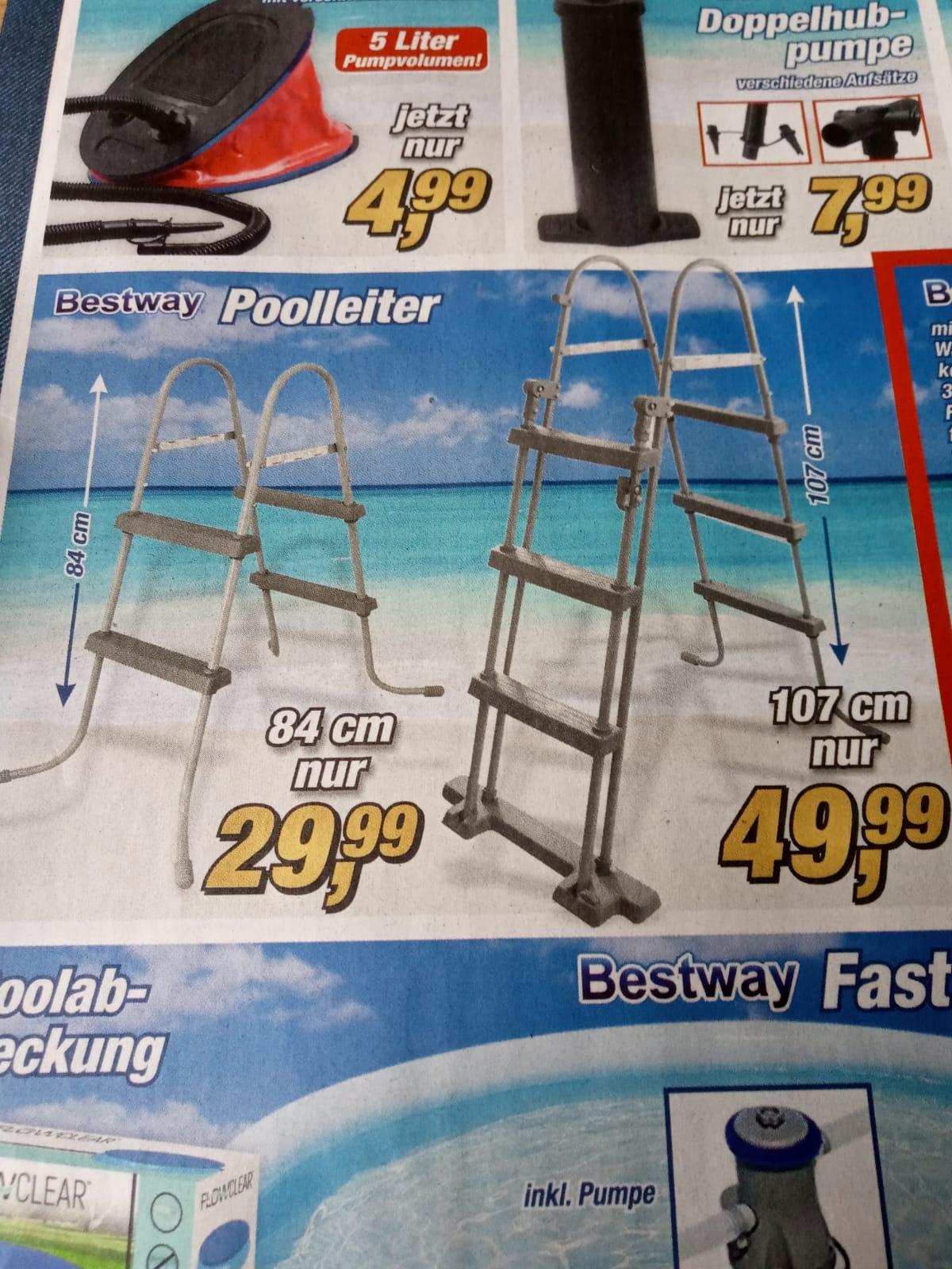 Bestway Poolleiter 84cm (passend für Aldi-Pool)