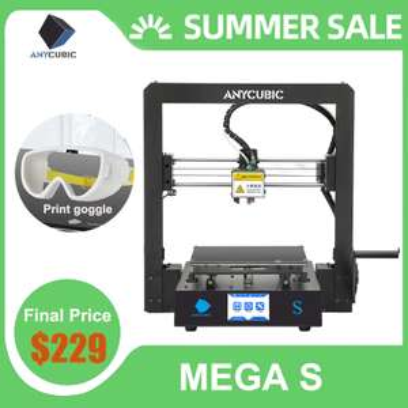 ANYCUBIC Mega-S 3D Printer + 1kg Filament - 3D Drucker mit Versand aus DE