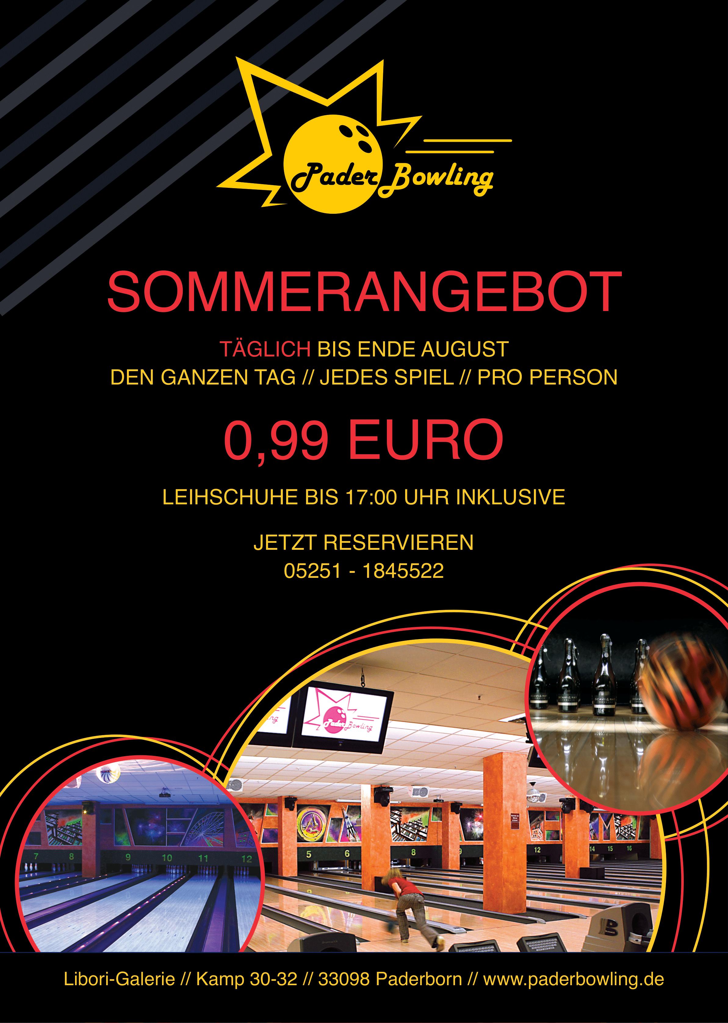 [Lokal Paderborn] Bowling in der Libori-Galerie für 0,99 Euro / Spiel