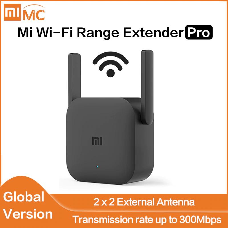 Xiaomi Wifi Verstärker / Extender Pro Version mit 300Mbps / 2 Antennen / Globale Version / Schwarz