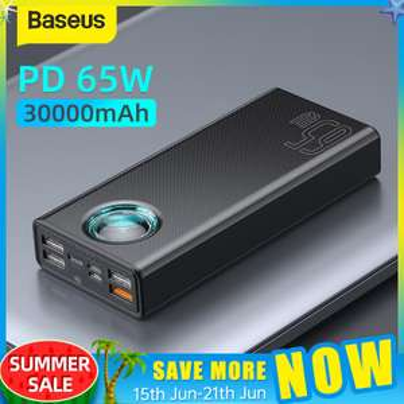 Baseus 65W Power Bank 30000mAh PD + USB-C PD 100W Kabel